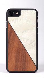 iPhone 6s Hülle Holz Weiß Aqua