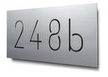 Nummern 1000 bis 9999 konturgeschnitten, in Aluminium