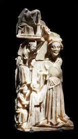 Angleterre, autour de Nottingham  Assomption  Deuxième moitié du XVe siècle  Albâtre  Abbeville, musée Boucher-de-Perthes