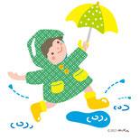 梅雨のイラストのページへ