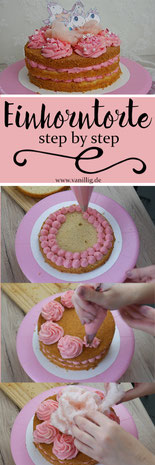 Einhorn Torte mit Cream Cheese