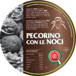pecorino maremma new taste sheep sheep's cheese dairy caseificio tuscany tuscan spadi follonica label italian origin milk italy fresh tender flavored flavor con le noci nuts nut walnut walnuts aromatic
