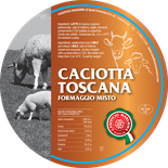 maremma mixed mix cow cow's sheep sheep's cheese dairy caseificio tuscany tuscan spadi follonica label italian origin milk italy fresh caciotta toscana formaggio misto