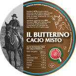 maremma mixed mix cow cow's sheep sheep's cheese dairy caseificio tuscany tuscan spadi follonica label italian origin milk italy fresh cacio misto il butterino