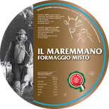 maremma mixed mix cow cow's sheep sheep's cheese dairy caseificio tuscany tuscan spadi follonica label italian origin milk italy fresh il maremmano formaggio misto