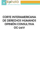 OEA- Opinión Consultiva OC - 24/17