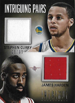 STEPHEN CURRY & JAMES HARDEN / Intriguins Pairs - No. 36  (#d 15/99)