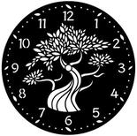 Plantillas para realizar relojes con diferentes diseños.
