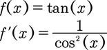 Ableitung der Tangesfunktion