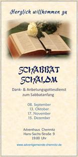 Schabbat Schalom 24.09.