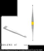 Metall-Doppellöffel nach Willinger, scharf, 14 cm, Gr. 0/00