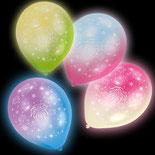 LED Ballone grün, blau, pink