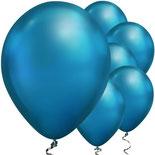 Chromballons blau