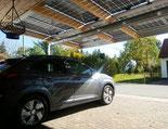 Carport-Dach: Strom für E-Auto