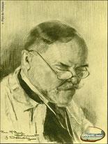 Portrait de Marcellin Boule par Jacqueline Demoly - Dessin - 1928 - Fonds Guiu - Coll. Musée du Veinazès.