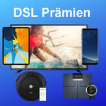 1 & 1 DSL 16, VDSL 50, VDSL 100 oder VDSL 250 bestellen und Samsung Galaxy S8 Smartphone,  V Box One S, Tablet von Apple, Samsung oder Trkstor,  Sharp Full HD-TV , eine Garmin Waage Index Smart Scale + Garmin Vivoactive 3 Smartwatch oder  iRobot Roomba Sa