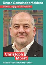 Christoph Morat - unser Gemeindepräsident