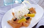 DELICE Rezept Orangen-Fenchel-Salat mit Vanille-Lachs
