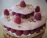 Recette gâteau macaron et framboises