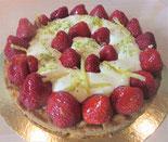 recette tarte aux fraise et mascarpone