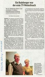 Sächsische Zeitung 13./14.10.2018