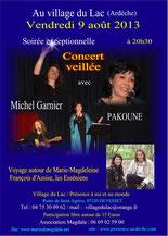 concert du9 aout au village du lac