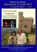 Concert exceptionnel à Rennes le Château, le 25 août 2013, cliquez pour agrandir
