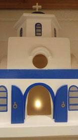 waxinelichtje Grieks kerk sfeerlicht LED