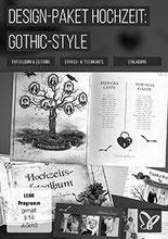 Design Paket Gothic-Hochzeit von PSD