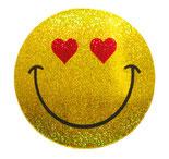 スマイリー ステッカー ラメタイプ にこちゃん 笑顔 スマイル シール グッズ   / タイ雑貨 アジアン ステッカー シール デカール タイ旅行 お土産(おみやげ)【Smiley sticker】