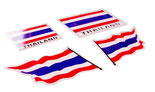 タイ王国 国旗 ステッカー  【Thailand national flag Sticker】 / タイ雑貨 アジアン ステッカー シール デカール タイ旅行お土産(おみやげ)
