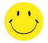 スマイリー ステッカー  にこちゃん 笑顔 スマイル シール グッズ   / タイ雑貨 アジアン ステッカー シール デカール タイ旅行 お土産(おみやげ)【Smiley sticker】