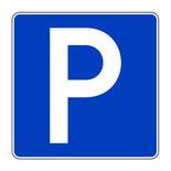 """Schild mit """"P"""" für Parken"""