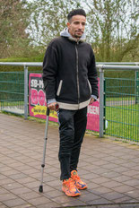 Ahmad Al-Hussainawi wird am Freitag am Kreuzband operiert (Foto: 1. FC Solingen Media Team)