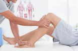 膝、脚の施術