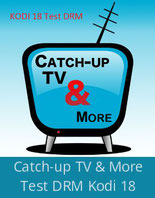 Catch-up TV & More TestDRM sur Kodi