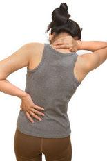 Bild: Rückenschmerzen, Verspannung, Blockade, Dorn-Breuss-Therapie