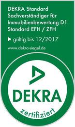 DEKRA Zertifizierter Sachverständiger Immobilienbewertung D1