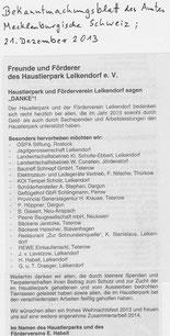 Bekannmachungsblatt M-S 21.12.2013