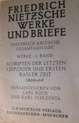 Nietzsche Historisch kritische Gesammtausgabe