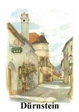 Wachau. Hauptstrasse in Duernstein
