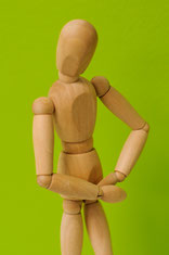 Darmgesundheit Figur mit Bauchschmerzen