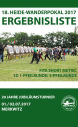 Ergebnisliste vom 18. Heide-Wanderpokal am 01./ 02.07.2017 in Merkwitz