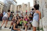 Le groupe sur le site de l'Acropole