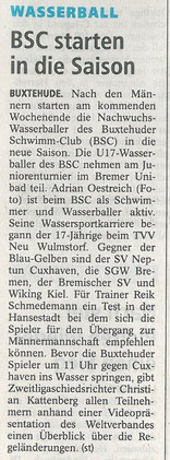 Buxtehuder Tageblatt vom 29.11.2013 (im Druck fehlte das angekündigte Bild)