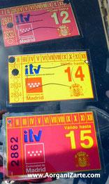 pegatina de ITV a la vista - www.AorganiZarte.com