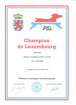 Titre Championne Luxembourg 2011