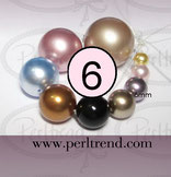 Crystal Perlen Rund 6mm Swarovski Crystal Pearls