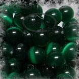 Katzenaugen-Perlen Dunkelgrün