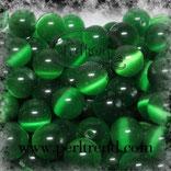 Katzenaugen-Perlen Grün
